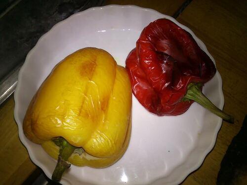 un cake Thon/poivron/tomates séchées
