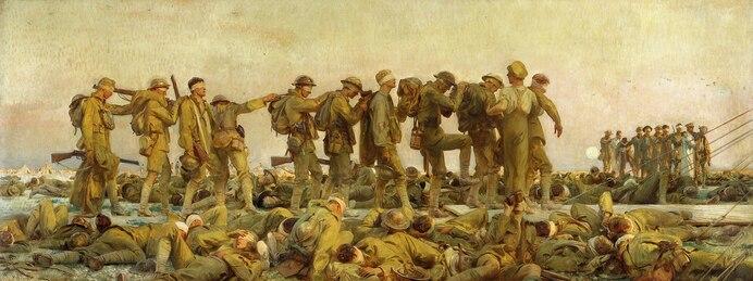 """Les gazés"" Gassed - John Singer Sargent"