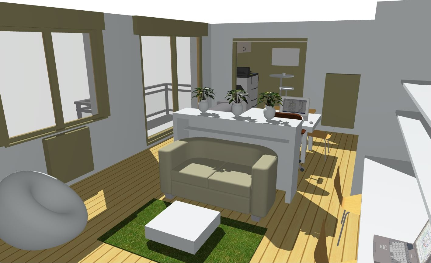 aménagement bureau appartement