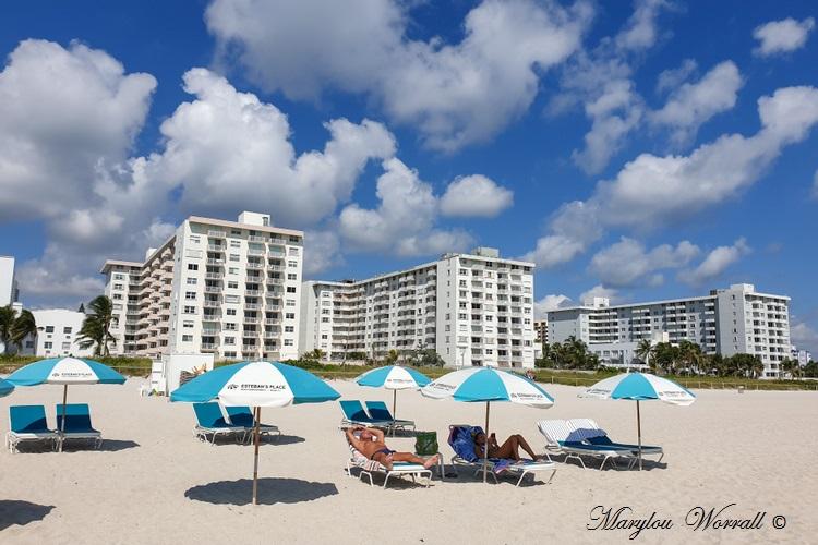 Floride : la plage de Miami Beach