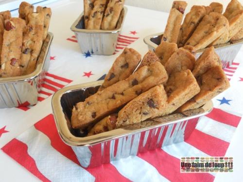 Les cookies sticks choco-noisettes