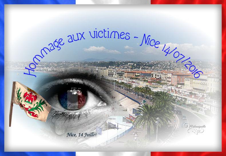 Hommage aux victimes -Nice, promenade des Anglais