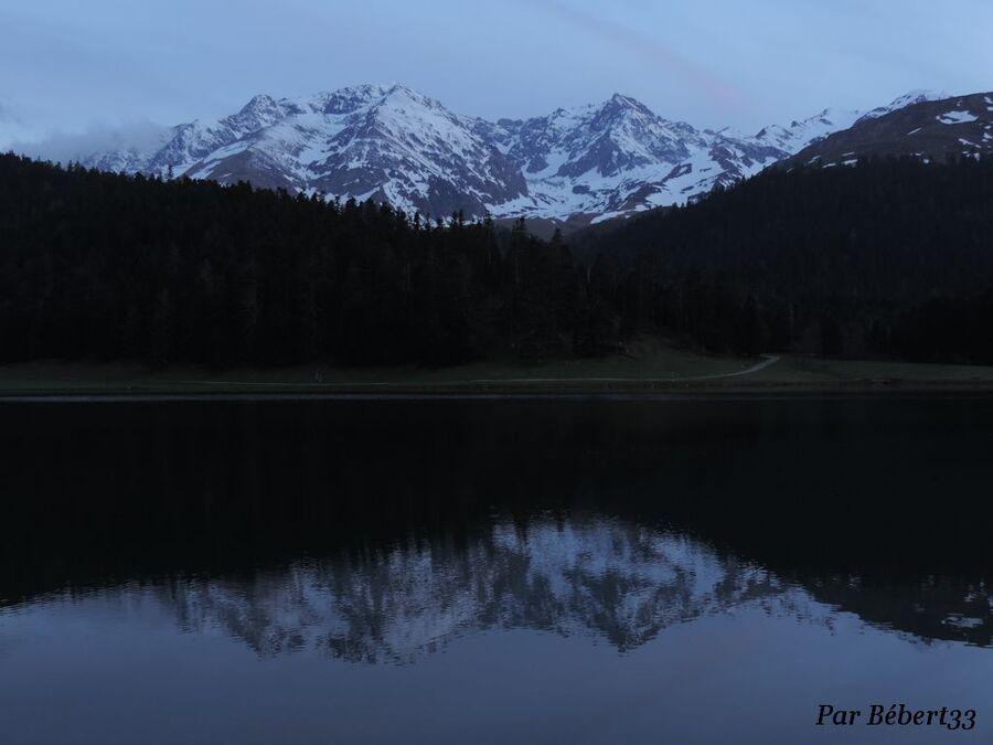 le lac de Payolle dans les Hautes Pyrénées