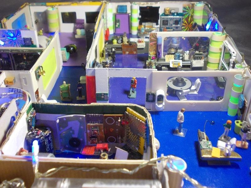 """Cité Volante Miniature d'Arrochelle """"Sasgarion"""" : les 5 boîtes de décors."""