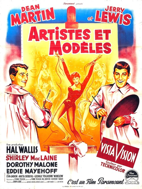 ARTISTES ET MODELES - BOX OFFICE JERRY LEWIS 1956