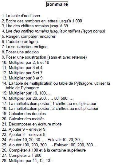 Outil pour le calcul au CE2 (2) REVU !!!