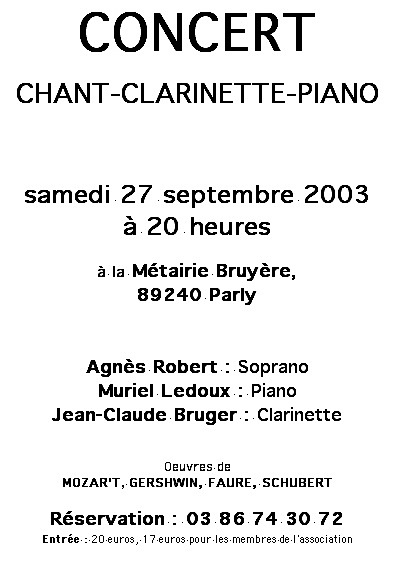 Concert Parly 2003