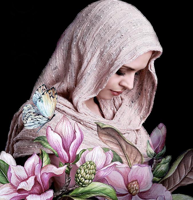 Tubes Femme Fleurs