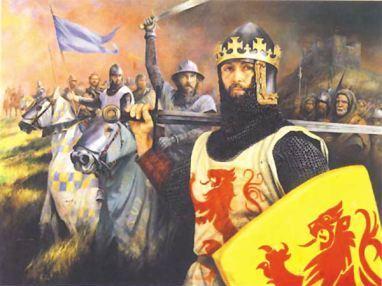 Les templiers fuyant l'Eglise, furent recueillis par le Roi d'Ecosse, Robert 1er Bruce