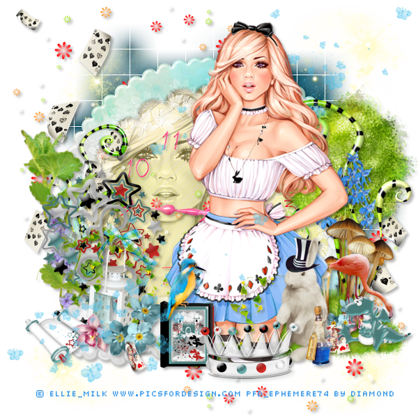 "Tutoriel ""Alice in Wonderland"" de MeliCrea Tutoriels"