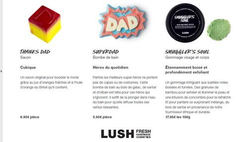 Lush - Collection fête des pères 2016