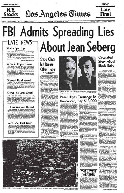 La MORT de JEAN SEBERG