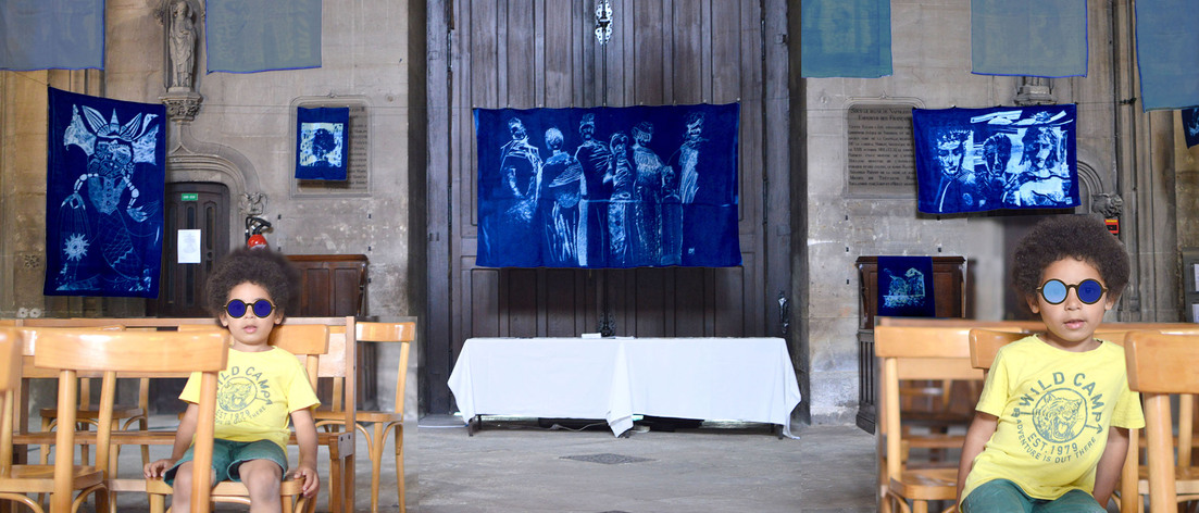 Installation cyanotype Big Format, juin 2019