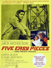 FIVE EASY PIECES BOX OFFICE FRANCE 1971