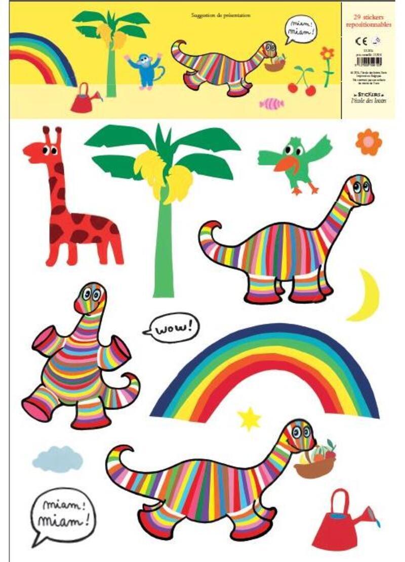 Le monde de Pop - Stickers de l'école des loisirs