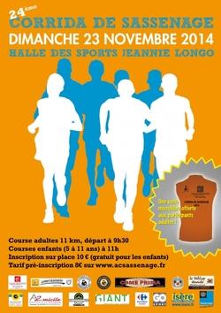 Prochaine course  corrida de Sassenage 23 novembre