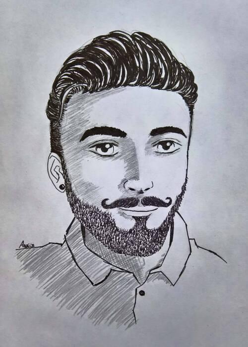 Portrait d'un Hipster moustachu !