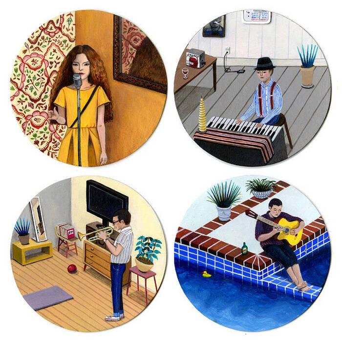 Peintures De La Vie Quotidienne Artiste Coréenne...  Paige Jiyoung Moon