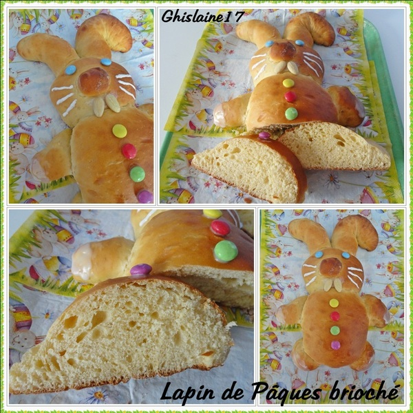 Lapin de Pâques brioché