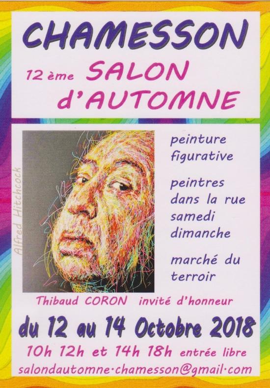 Le Salon d'automne de Chamesson vous attend le week-end prochain....