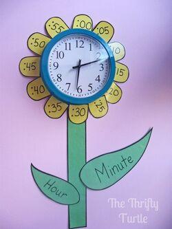 L'horloge fleur