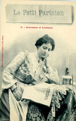 Les femmes et la lecture des journaux