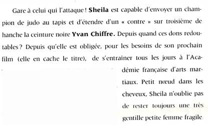 Sheila se serre la ceinture.