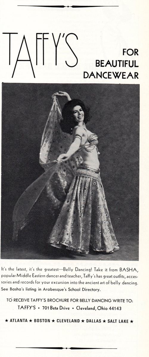 Taffy's for beautiful dancewear (in Arabesqué, July-August 1975)
