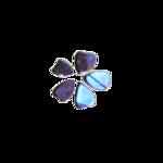 Stickers d'ongles fleurs reflets argent