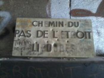 nom de la rue authentique départ Peyrole centre