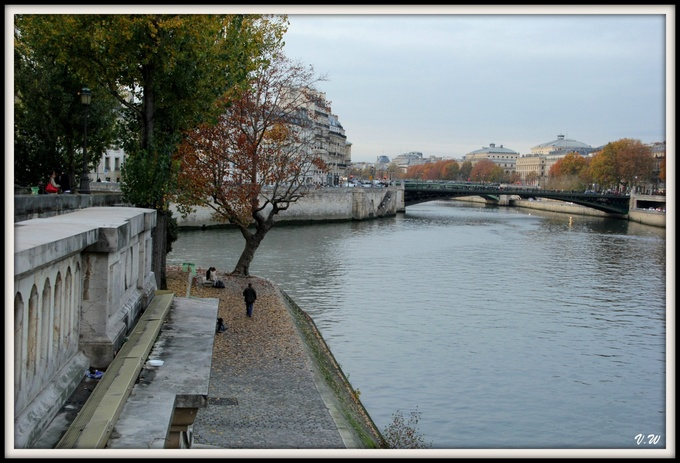 Bords de Seine à l'automne