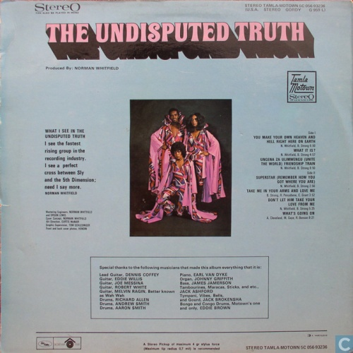 """1971 : Album """" Face To Face With The Truth """" Gordy Records G 959L [ US ]"""
