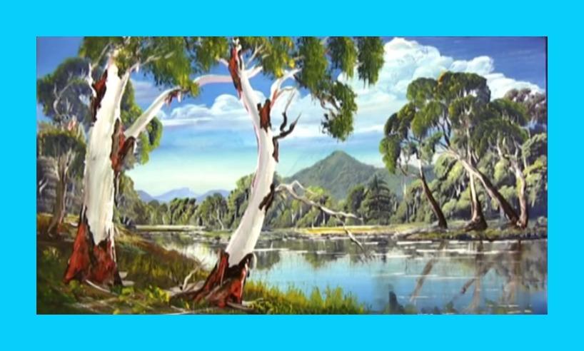 Dessin Et Peinture Video 2498 Les Reflets Dans Une Eau Calme Peinture A L Huile Ou Acrylique Le Blog De Lapalettedecouleurs Over Blog Com