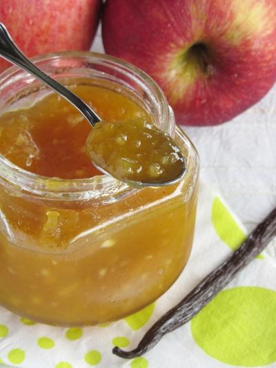 Confiture pomme, mangue et vanille