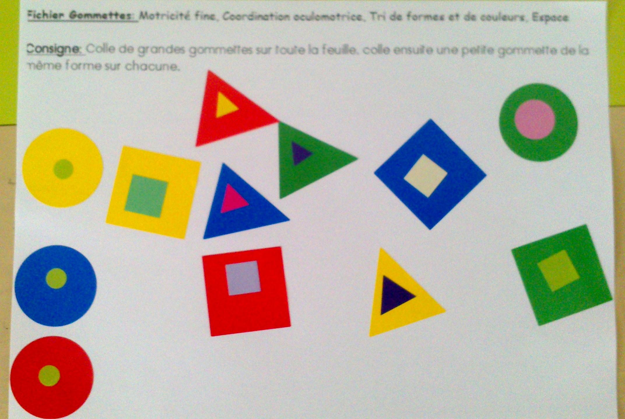 Divers Ateliers sur les Formes géométriques