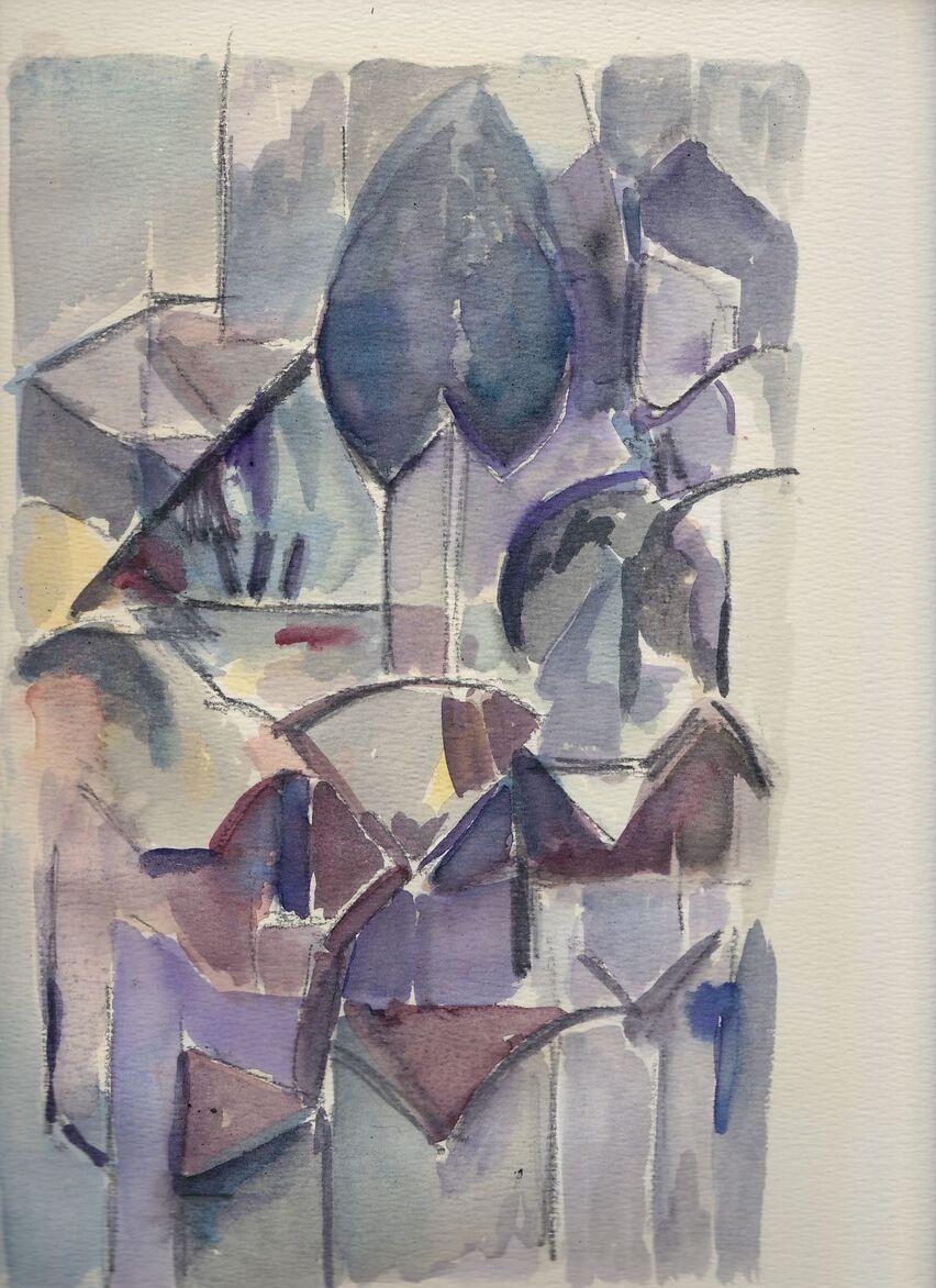 une  aquarelle  à la Mondrian - ( RC )