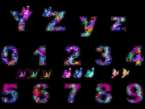 alphabet papillons