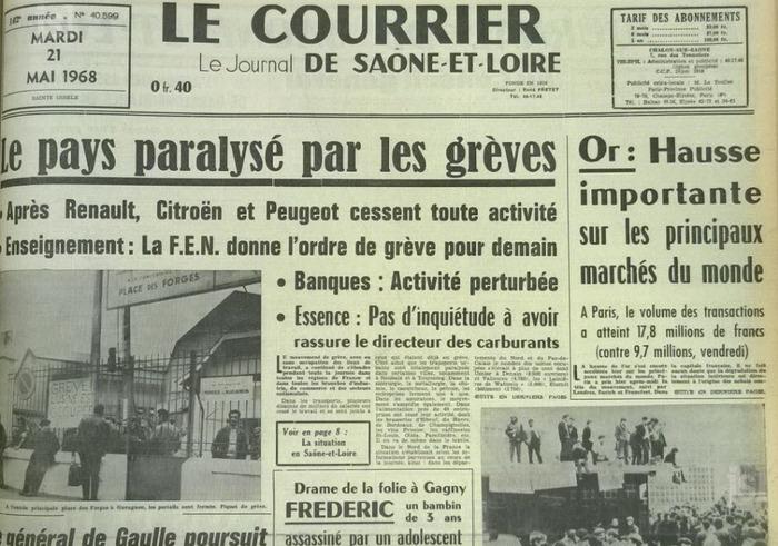 Histoire : de la fin de la guerre d'Algérie à mai 1968