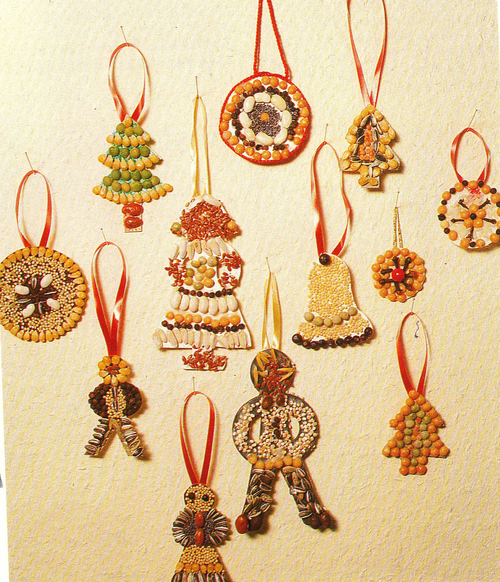 Bricolage de Noël : figurines en graines