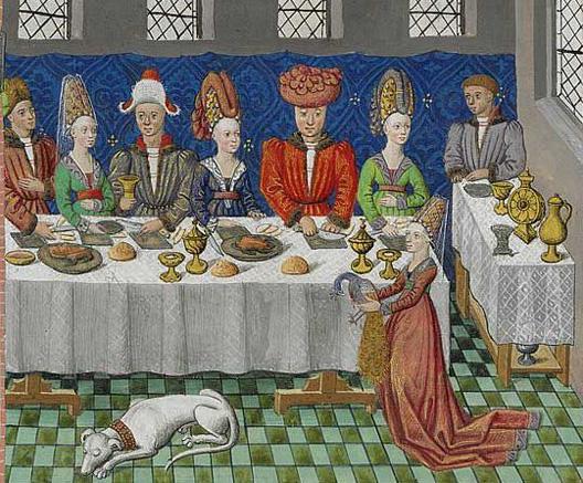 Le Banquet des Vœux du Paon, Jean Wauquelin, Les faits et conquêtes d'Alexandre le Grand, Flandre, atelier de Mons, 1448-1449, Paris, BnF