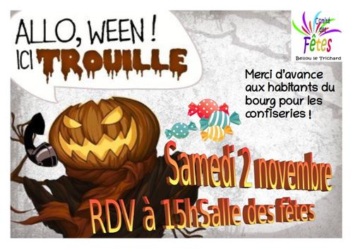 Halloween samedi 2 novembre