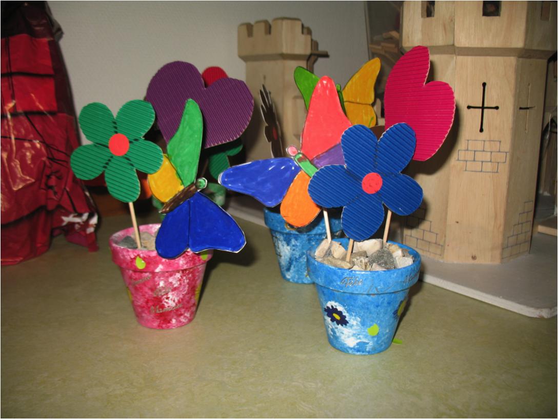 Fête des mères et fête des pères. Pot de fleur. «