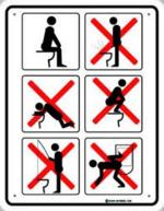 Mais ils ne savent pas utiliser un toilette!!!!