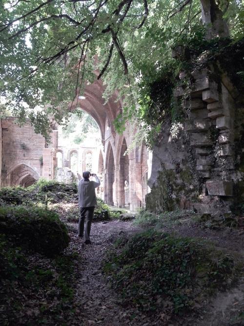 au coeur de l'abbaye des TRois-Fontaines
