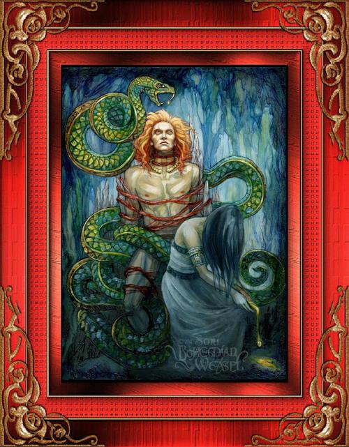 Gylfaginning, Loki et sigyn