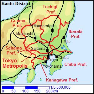 Tokyo Metropolis in Kanto District