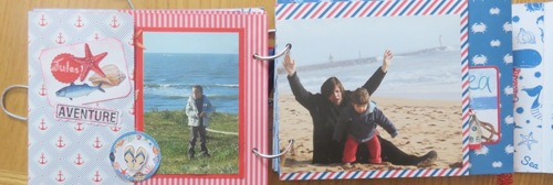 scrap mini album mer