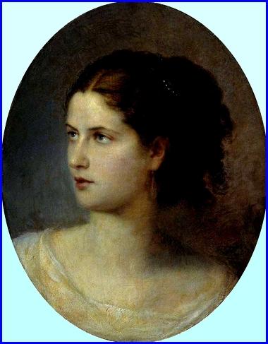 Portrait d'une jeune femme 1866   Musée régional des Beaux-Arts  M.A. Vrubel, Omsk, Russie.jpg
