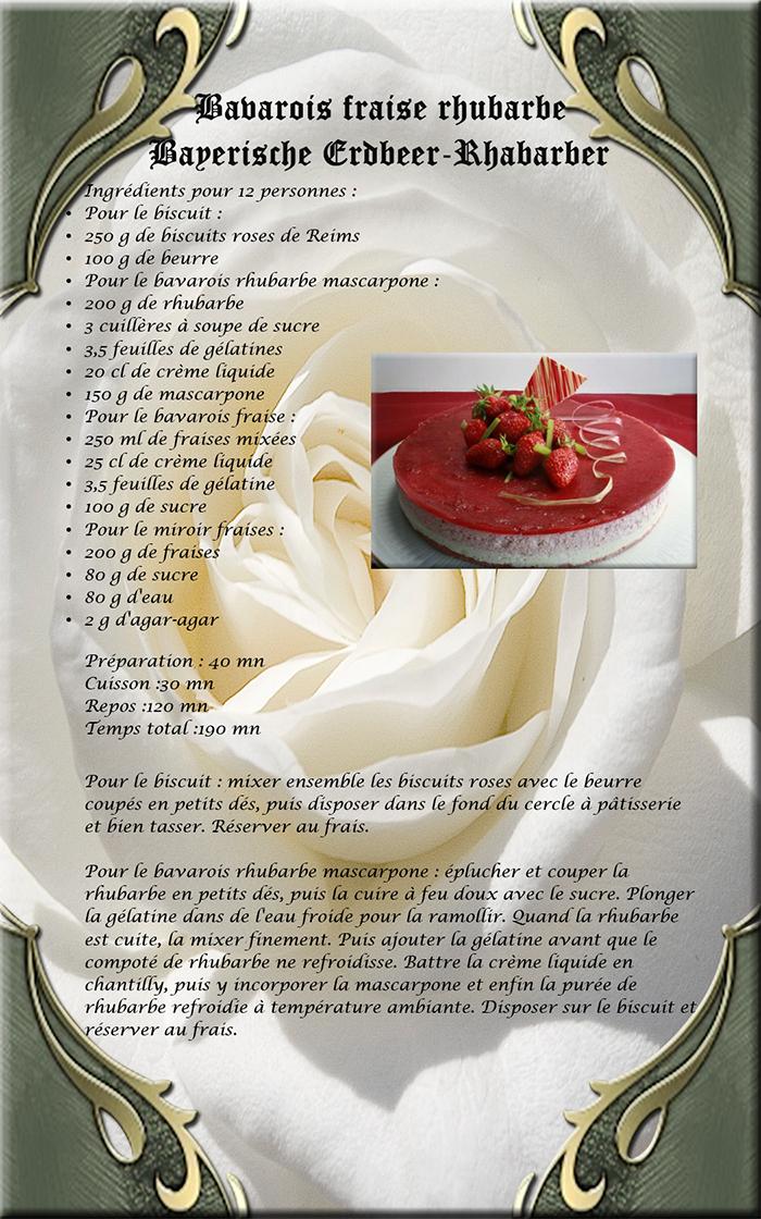 bavarois rhubarbe