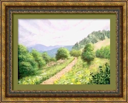 Dessin et peinture - vidéo 2773 : La colline dans le brouillard 1/4 - huile ou acrylique.